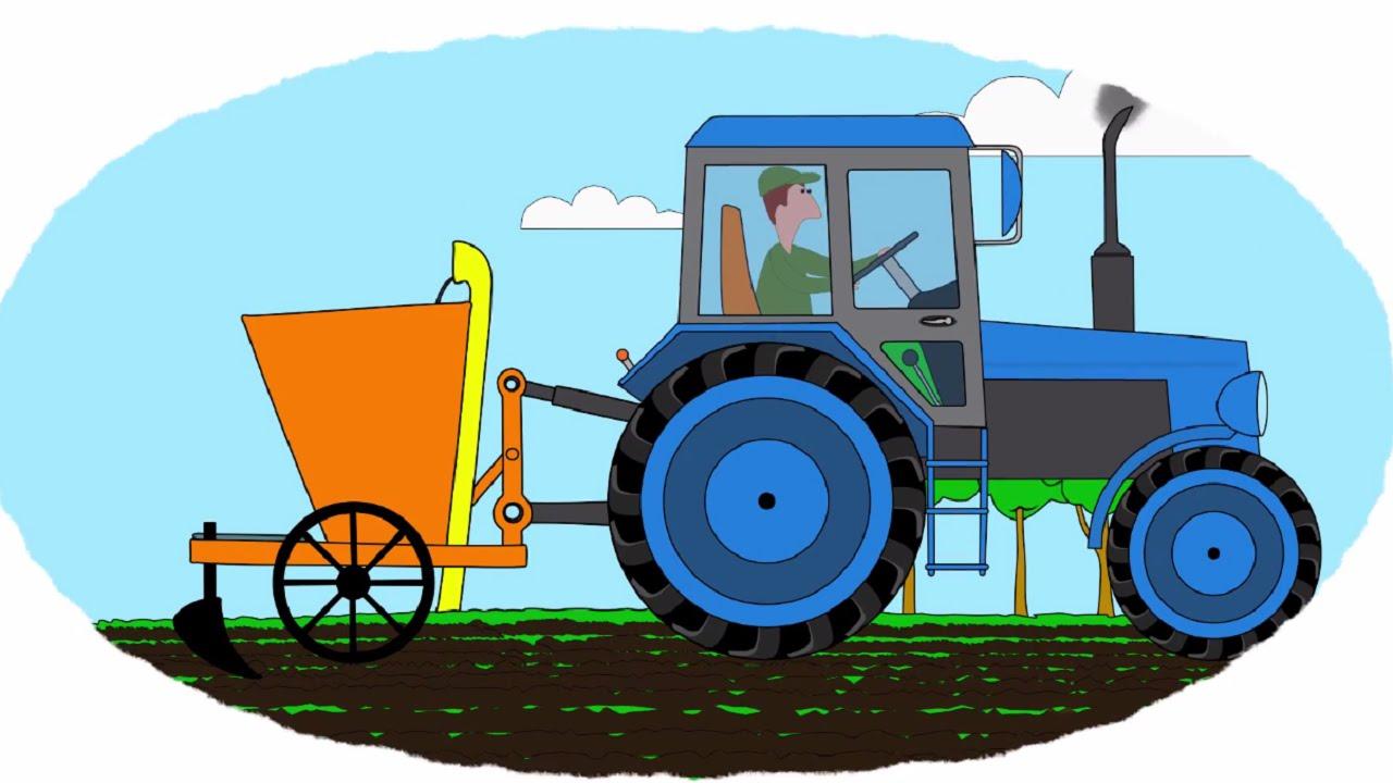 Смотреть раскраска про тракторы