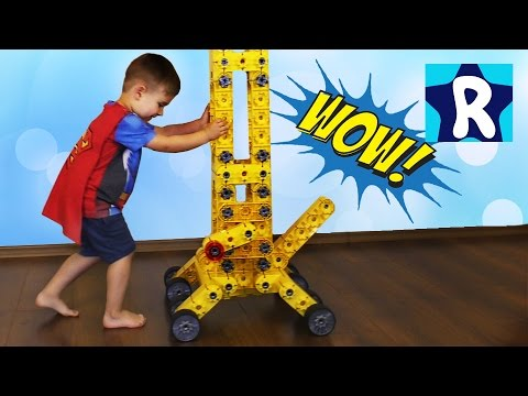 Super-Bolshoj-KRAN-Konstruktor-Gigant-165sm-Kiditek-unboxing-Big-Crane-Super-Toy-Construction-Set