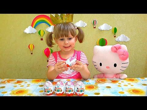 Hello-Kitti-raspakovka-yajtsa-Kinder-Syurpriz-igrushki-Hello-Kitty-unboxing