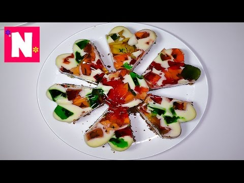 Retsepty.Desert-Bitoe-steklo-Deserty-iz-tsvetnogo-zhele.-Dessert-Broken-glass-from-colored-jellies