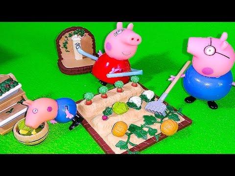 Silvanian-Femilis-raspakovka-Nabor-Ogorod-Igrushki-Kolyaska-dlya-dvojni-Sylvanian-Families-Toys