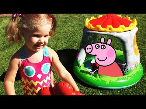 SVINKA-PEPPA-Korolevskij-Zamok-Peppy-Igry-Detej-Peppa-Pig-Castle-Play-Super-toy-Peppa-na-Russkom