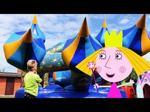 Ben-i-Holli-Batut-MALENKOE-KOROLEVSTVO-Bena-i-Holli-Ben-And-Hollys-Little-Kingdom-Trampoline-fun