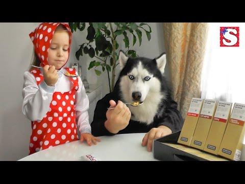 MASHA-I-MEDVED-Igraem-vmeste-Kosmicheskaya-Eda-Mashiny-skazki-Novye-serii-Masha-and-the-bear
