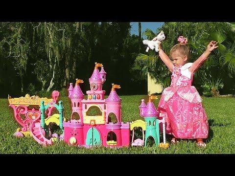 ZAMOK-PRINTSESSY-Avrory-Igry-Dlya-Devochek-Disney-Princess-Play-Castle-Toys-Video-dlya-Detej-Printsessy
