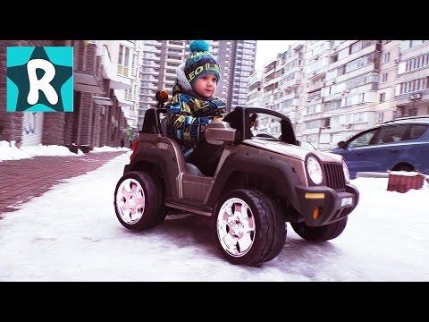 NA-MASHINE-po-Snegu-edem-za-Posylkoj-Robokar-Poli-novye-serii-Robokar-Poli-dlya-Detej-Kids-Roma-Show