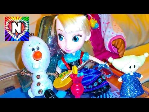 SUPER-NABOR-Frozen-i-Nastyushik-Igraet-v-kukly-Elza-iz-multika-Holodnoe-Serdtse-Igry-dlya-devochek