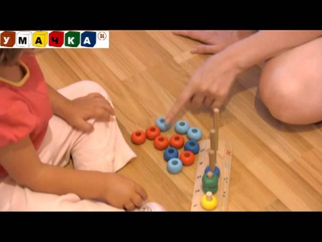 Пирамидка башенки цветные (д-672) rn toys