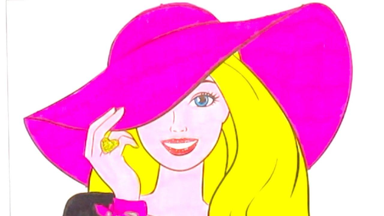 Барби раскраска. Barbie мультик-раскраска. Учимся ...
