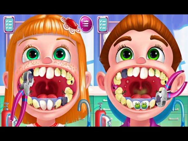 Igraem-v-doktorov-lechim-zuby-Milana-i-papa-stomotolog-prilozheniya-na-android-Play-doctor-treat-teeth