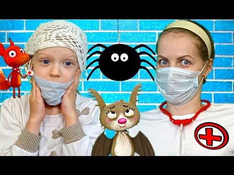 Mama-i-Milana-vrachi-lechat-zveryat-v-igre-kak-multfilm-Little-Fox-Animal-doctor-igraem-v-doktora