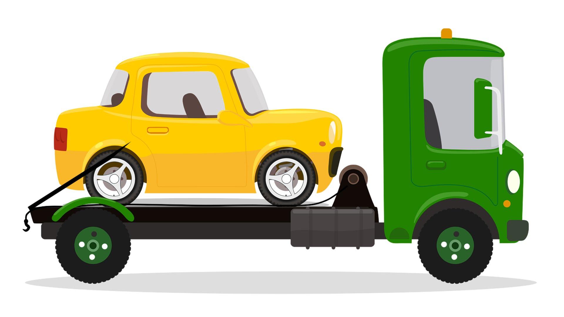 картинки машина без для детей колес