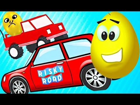 Priklyuchenie-krasnoj-mashinki-i-yajtso-igra-kak-multik-pro-mashinku-i-razbitoe-yajtso-Risky-Road