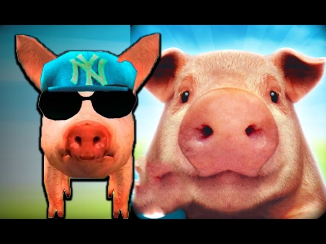 Simulyator-svini-porosenok-begaet-gonyaet-kurej-igraem-so-svinyoj-Simulator-Pigs-funny-videos