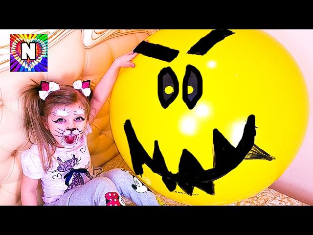 BAD-BABY-GIGANTSKIJ-SHAR-Napal-na-Detej-i-Sel-Giant-Balloon-ATTACKS-Kids-VREDNYE-DETKI-Nastya-i-Masha