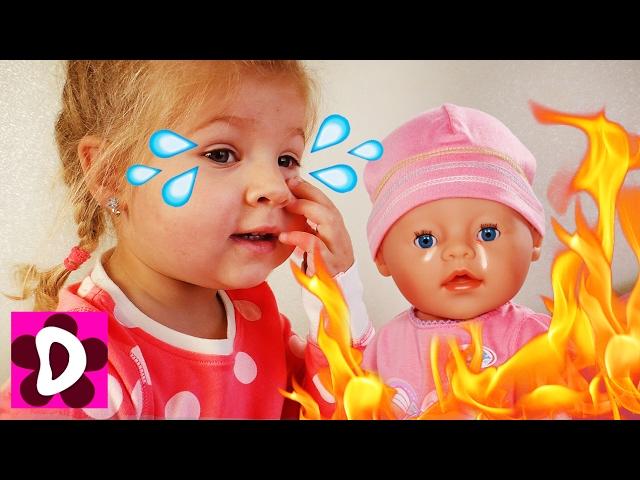 Bad-Baby-VREDNYE-DETKI-Kukly-Bebi-Bon-PLACHUT-i-Diana-Kak-MAMA-igraem-kukly-Baby-Born-doll-dlya-Detej