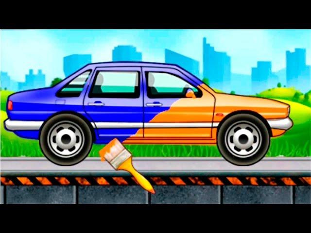 Видео раскраска машин для детей