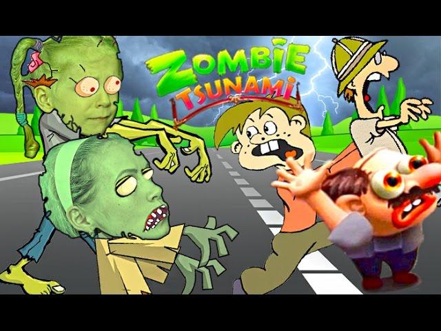 SUMASSHEDSHIJ-ZABEG-ZOMBI-Mama-protiv-Milany-CHELLENDZH-v-igre-zombie-tsunami-Kto-sest-bolshe-lyudej