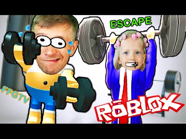 Pobeg-ROBLOX-iz-Sport-zala-SMESHNOE-VIDEO-dlya-detej-ot-kanala-FFGTV-Escape-The-Gym-Fun-video-for-kids