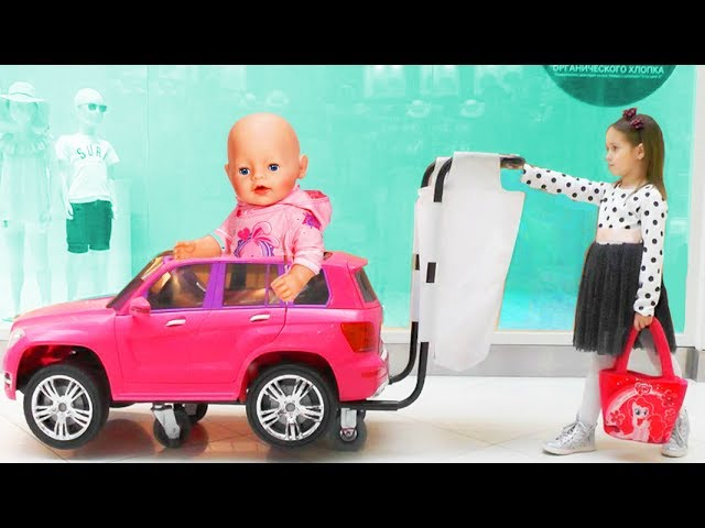 Bad-Baby-Kukla-Bebi-Bon-igraet-v-supermarkete-KAK-MAMA-Video-dlya-detej-Crying-Babies-Songs-Kids-Car
