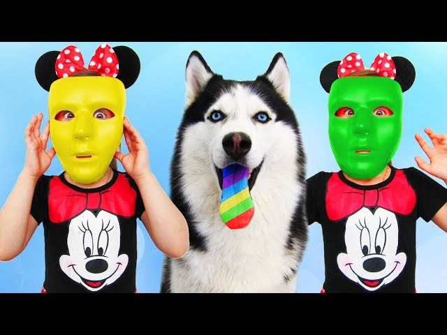 Learn-colors-with-Baby-and-Sandy-JOHNY-JOHNY-Yes-Papa-Song-Nursery-Rhymes-Color-FACE-Bad-Kid