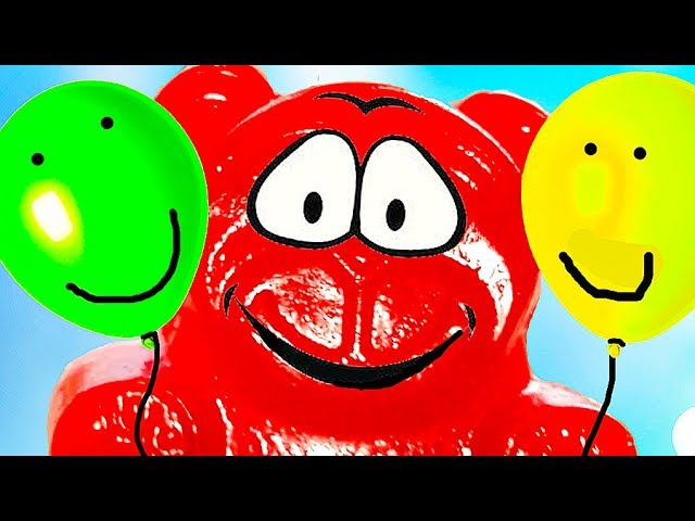 ZHELEJNYJ-MEDVED-uchim-tsveta-ZHelejnyj-medved-i-shariki-Learn-Colors-With-Gummy-Bear