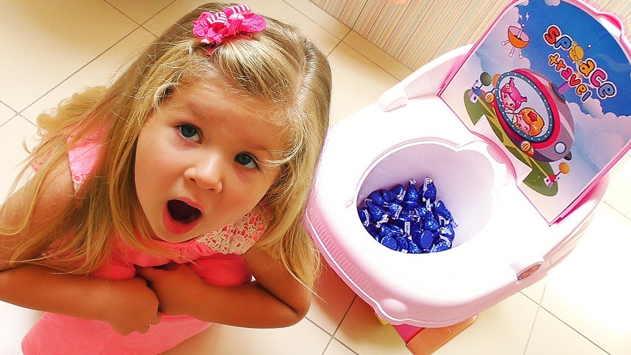 Bad Baby Learn Colors With Candy In Toilet Amp Baby Songs