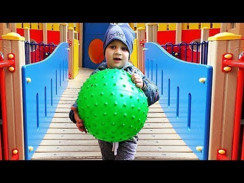 Funny-baby-play-on-the-Outdoor-playground-for-kids-Baby-songs-nursery-rhymes