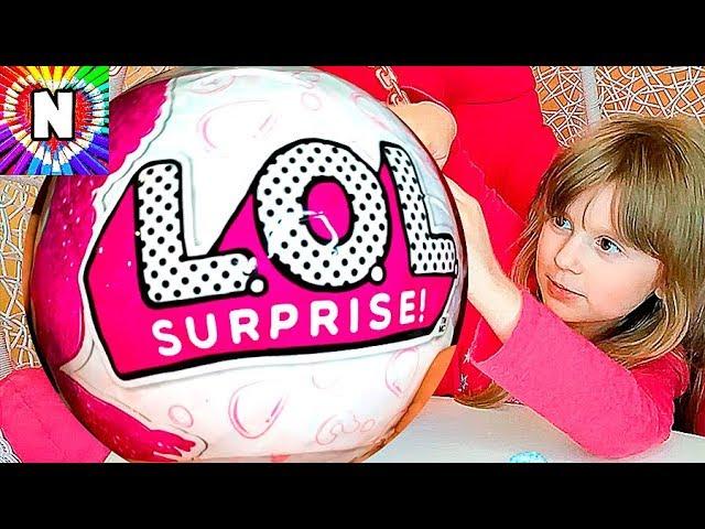 GIANT-LOL-Surprise-Kukly-LOL-Gigantskij-Zolotoj-SHar-LOL-Dolls-Raspakovka-Igrushek-dlya-Devochek