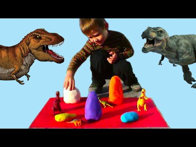Dinozavry-YAjtsa-syurpriz-PlejDo-Play-Doh-testo-igrushki