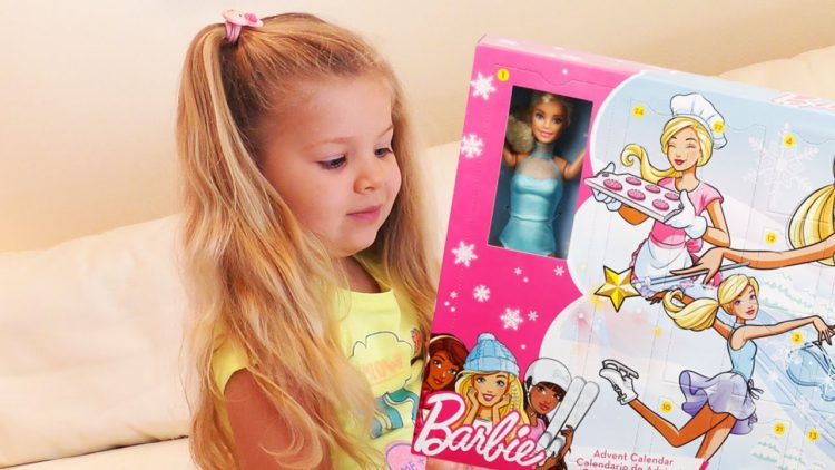 Diana-Opens-Advent-Calendar-with-Barbie-doll-surprise-for-kids-video