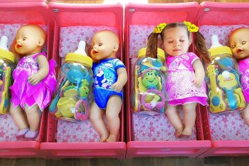 Diana-playing-with-Baby-Born-Doll-learn-colors-for-kids-toddlers-Videos-for-children