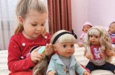 Diana-plays-with-Baby-Born-dolls-New-doll-BABY-born-Sister-in-a-new-style-Videos-for-kids