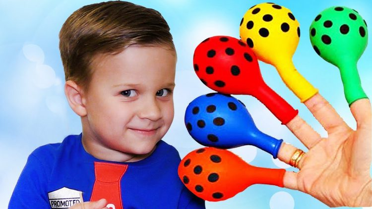 Funny-Baby-Roma-playing-with-Balloons-Finger-family-song-nursery-rhyme-Kids-video