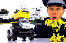Inspektor-Fyodor-i-ego-Super-Politsejskaya-mashina.-Roboty-Transformery