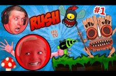 Krutye-PRIKLYUCHENIYA-KRASNOGO-SHARIKA-RED-ball-Rush-1-detskij-letsplej-ot-FFGTV-papa-i-Milana-igrayut