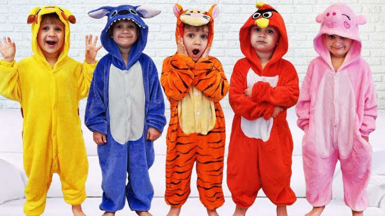 Learn-Colors-with-Five-Little-Babies-Jumping-On-The-Bed-Educational-Videos-Good-Song-for-kids