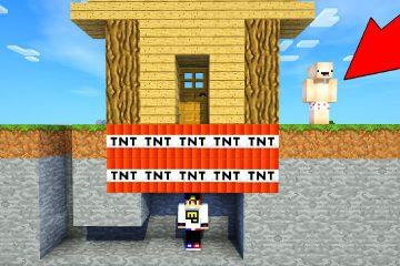 Majnkraft-PE-Vyzhivanie-Kak-postroit-Dom-lovushka-100-zashhita-ot-Nuba-Video-Minecraft-Pocket-Edition