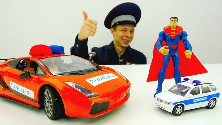 Politsejskij-Supermen-i-inspektor-Fyodor-na-zadanii.-Video-pro-mashinki