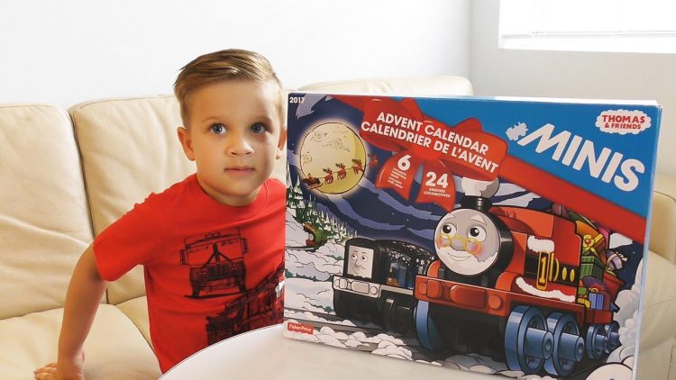 Roma-opens-Advent-Calender-Thomas-and-Friends-Surprise-Toys-for-kids-Thomas-the-tank-engine-videos