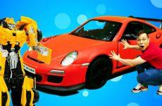 Bamblbi-i-Fyodor-remontiruyut-Porshe-911-GT3.-Video-pro-mashinki-i-Transformery