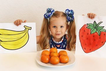Diana-draws-and-to-name-Fruit-Educational-Video-for-kids-and-toddlers-with-Kids-Diana-Show