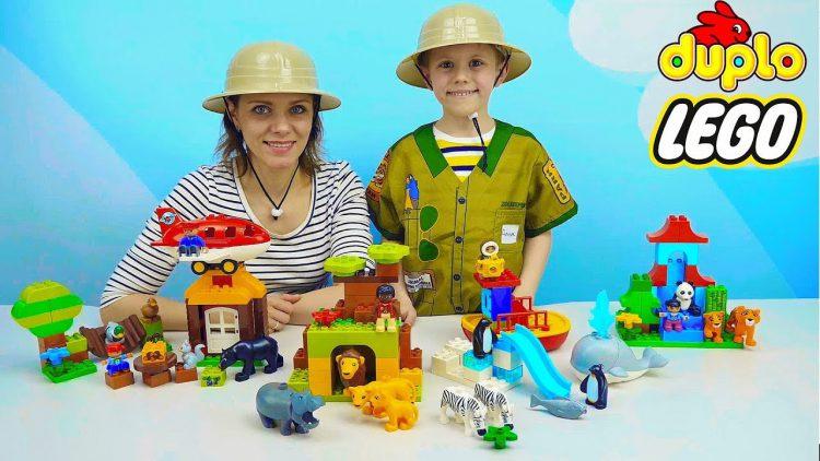 Lego-ZHivotnye-i-puteshestvie-v-Afriku-Aziyu-i-Antarktidu-dlya-samyh-malenkih-detej.-Razvivayushhee-video