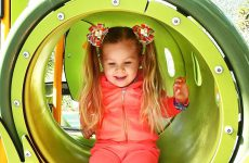 Little-girl-Diana-have-fun-playing-on-the-Outdoor-playground-Kids-video-Baby-songs