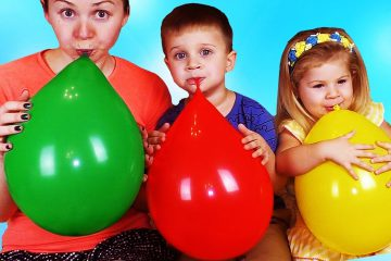 Roma-and-Diana-learn-colors-with-Balloons-Finger-Family-Nursery-Rhymes.-Learning-Video-Compilation