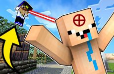 SNAJPERY-V-MAJNKRAFT-PE-Oruzhie-Obzor-na-mody-mod-Video-Nub-protiv-Pro-Trolling-pryatki-v-Minecraft-PE