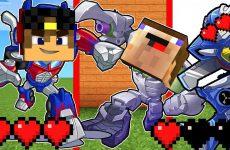 Transformery-avtoboty-Majnkraft-PE-Nubik-Robot-Oruzhie-Obzor-na-mody-mod-Video-Nub-i-Pro-Minecraft-PE
