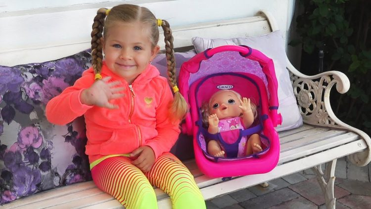 Diana-and-Baby-Doll-play-on-the-Outdoor-Playground-for-kids-Funny-Baby-Alive-videos