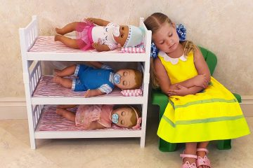 Diana-caring-Mom-playing-with-Baby-Born-Doll-Are-you-sleeping