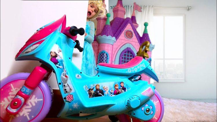 Disney-Princess-Katya-s-kuklami-Cry-Baby-Dolls-Zamok-Printsess-Kids-Pretend-Play-Unicorn-ride-on